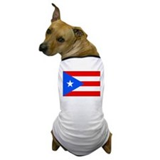 Puerto Rico Flag Picture Dog T-Shirt