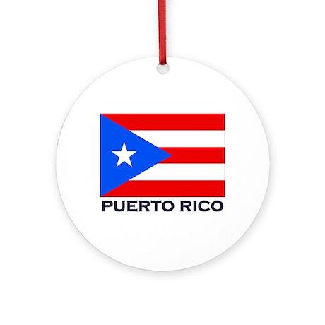 Puerto Rico Flag Stuff Ornament (Round)