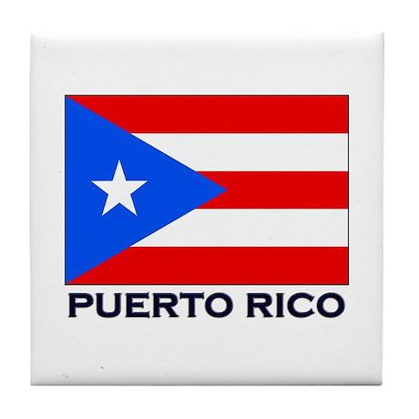 Puerto Rico Flag Stuff Tile Coaster