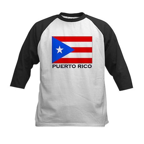 Puerto Rico Flag Stuff Kids Baseball Jersey