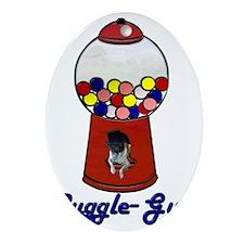 Puggle-Gum Ornament (Oval)