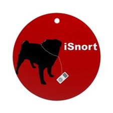 isnortredbutton.png Ornament (Round)