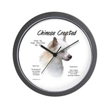 Powderpuff Crested Wall Clock