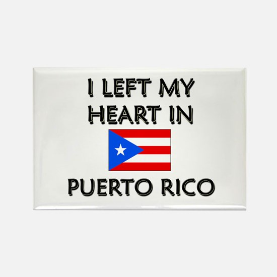 I Left My Heart In Puerto Rico Rectangle Magnet