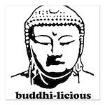 "BUDDHA (Buddhi-licious) Square Car Magnet 3"""