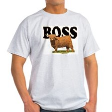 longhorn Boss Ash Grey T-Shirt