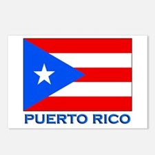 Puerto Rico Flag Gear Postcards (Package of 8)