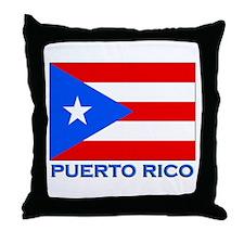 Puerto Rico Flag Gear Throw Pillow