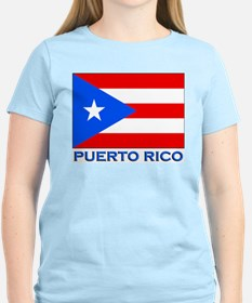 Puerto Rico Flag Gear Women's Pink T-Shirt