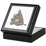 Rhino with an Attitude Keepsake Box