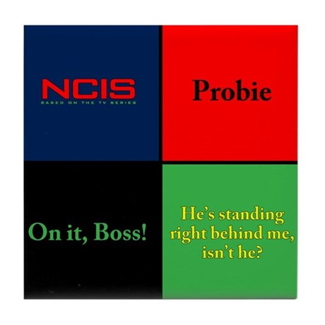 NCIS Quotes Tile Coaster