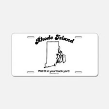 Funny Rhode island ocean state replica Aluminum License Plate