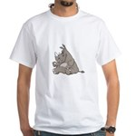 Rhino with an Attitude White T-Shirt