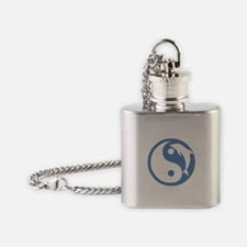 Blue Dolphin Yin Yang Flask Necklace