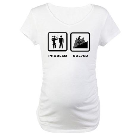 Mountain Biking Maternity T-Shirt