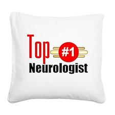 Top Neurologist Square Canvas Pillow