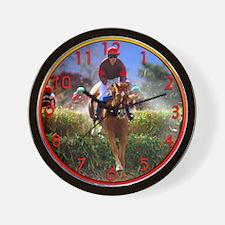 Race Horse Jumping Wall Clock