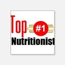 "Top Nutritionist Square Sticker 3"" x 3"""
