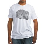 hedgehog Fitted T-Shirt