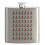 Shar Pei Christmas or Holiday Silhouettes Flask