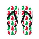 Shar Pei Christmas or Holiday Silhouettes Flip Flo
