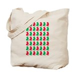 Shar Pei Christmas or Holiday Silhouettes Tote Bag