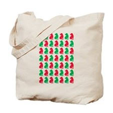 Shar Pei Christmas or Holiday Silhouettes Tote Bag
