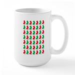 Shar Pei Christmas or Holiday Silhouettes Large Mu