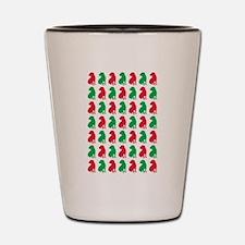 Shar Pei Christmas or Holiday Silhouettes Shot Gla