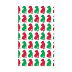Shar Pei Christmas or Holiday Silhouettes Sticker