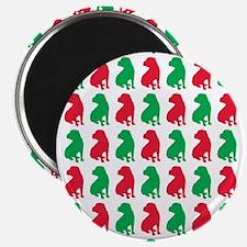 "Shar Pei Christmas or Holiday Silhouettes 2.25"" Ma"