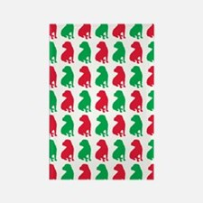 Shar Pei Christmas or Holiday Silhouettes Rectangl