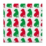 Shar Pei Christmas or Holiday Silhouettes Tile Coa