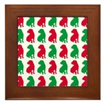 Shar Pei Christmas or Holiday Silhouettes Framed T