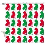 Shar Pei Christmas or Holiday Silhouettes Shower C
