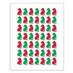 Shar Pei Christmas or Holiday Silhouettes Small Po