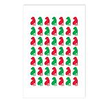 Shar Pei Christmas or Holiday Silhouettes Postcard