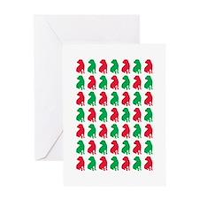 Shar Pei Christmas or Holiday Silhouettes Greeting