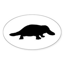 Platypus (Silhouette) Oval Decal
