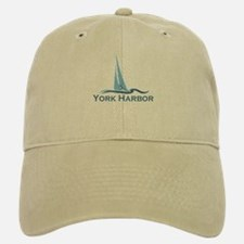 York Harbor ME - Sailing Design. Baseball Baseball Cap