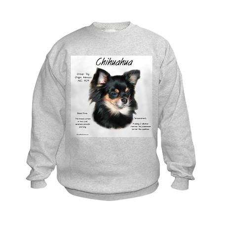 Longhair Chihuahua Kids Sweatshirt