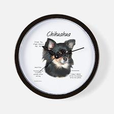 Longhair Chihuahua Wall Clock