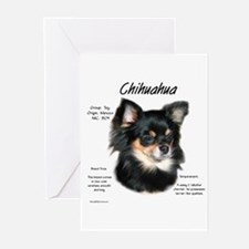 Longhair Chihuahua Greeting Cards (Pk of 10)