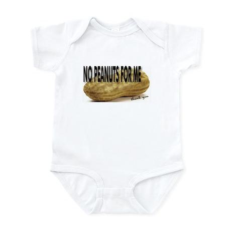 No Peanuts For Me Infant Bodysuit