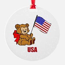 USA Teddy Bear Ornament