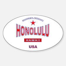 Honolulu Oval Decal