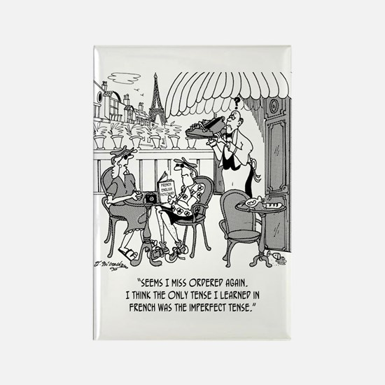 French Cartoon 4932 Rectangle Magnet
