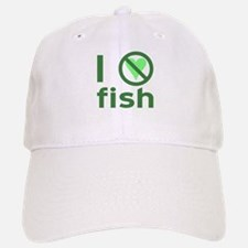 I Hate Fish Baseball Baseball Cap