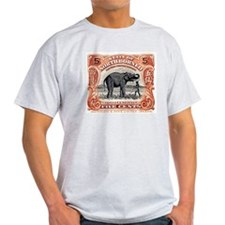 1925 North Borneo Elephant Postage Stamp T-Shirt