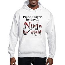 Piano Player Ninja Hoodie Sweatshirt